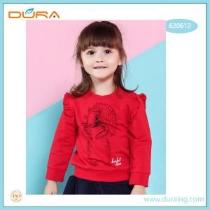 Girls' cotton children's long sleeve pullover top
