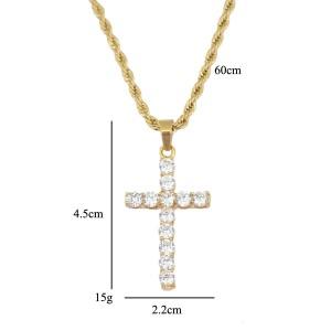 Cross Shape Crystal Pendant